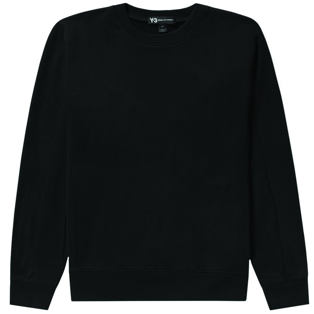 Y-3 Arm Logo Sweatshirt Black Colour: BLACK, Size: SMALL