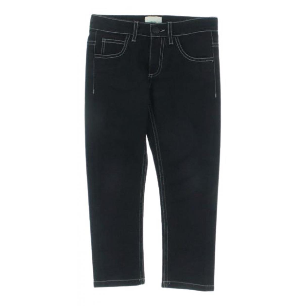 Fendi \N Black Cotton Trousers for Women 8 US