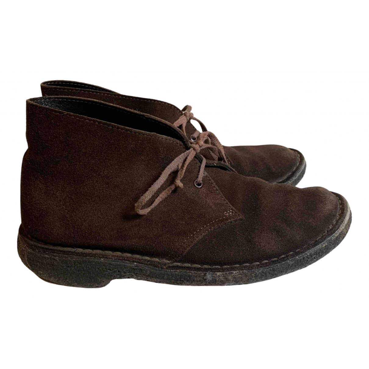 Clarks N Brown Suede Boots for Women 4.5 UK