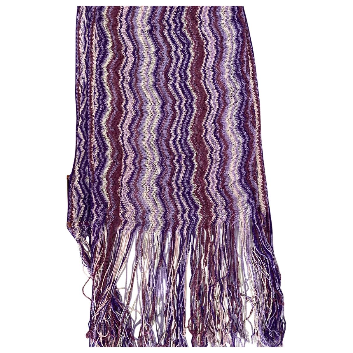 Missoni - Foulard   pour femme en soie - violet
