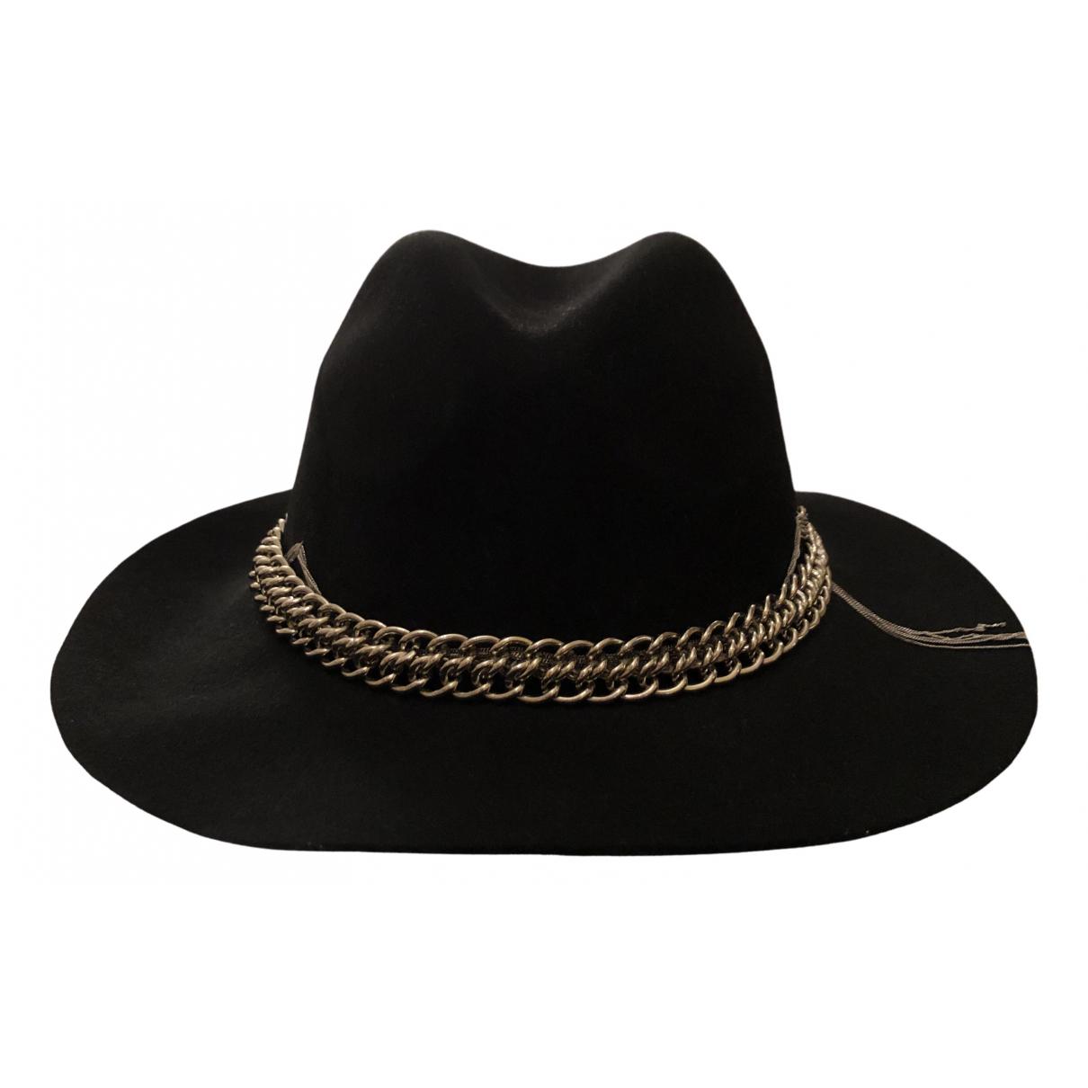 Hotel Particulier - Chapeau   pour femme en laine - noir