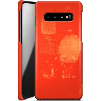Samsung Galaxy S10 Plus Smartphone Huelle - Red Block Background von Brent Williams