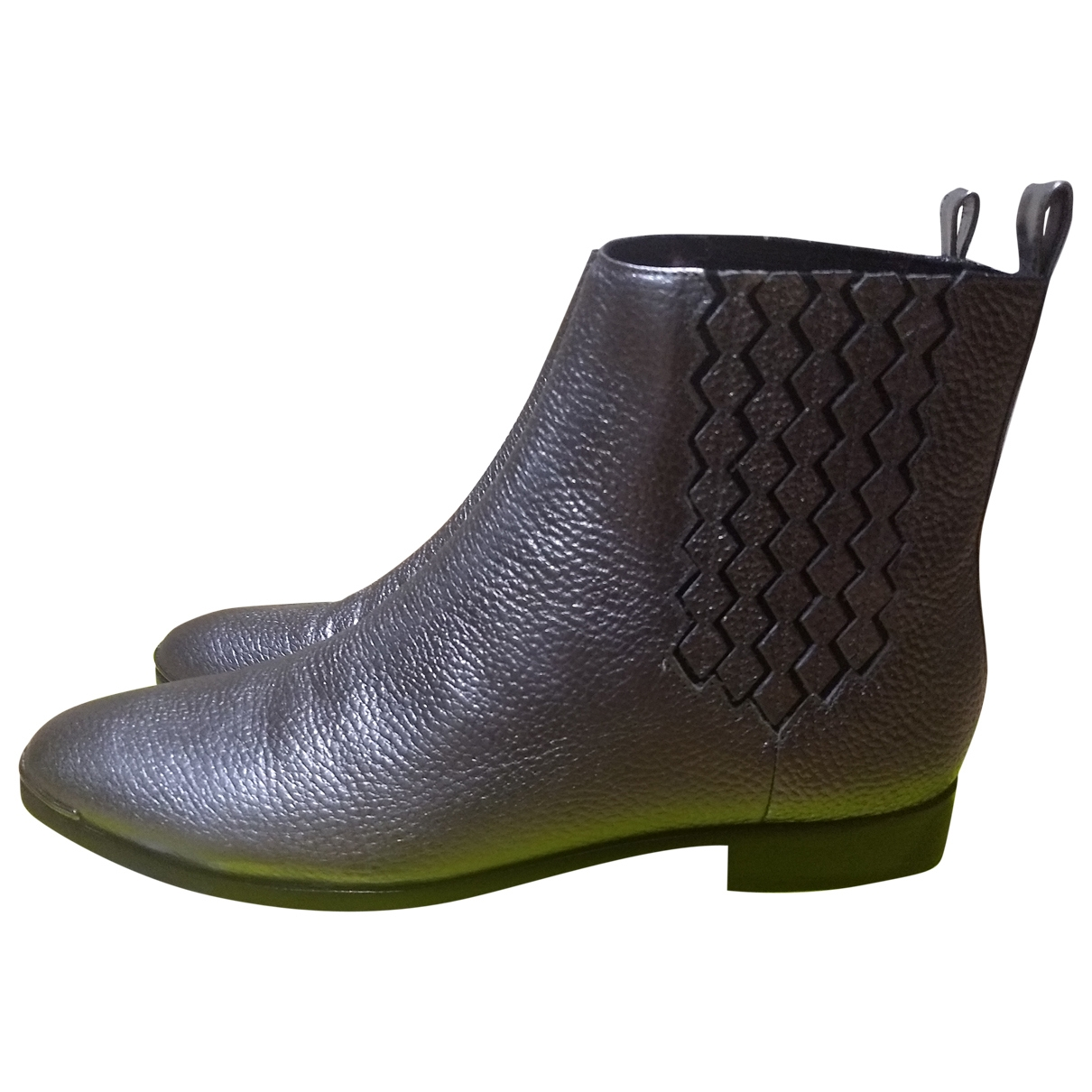 Ted Baker \N Silver Leather Ankle boots for Women 39 EU