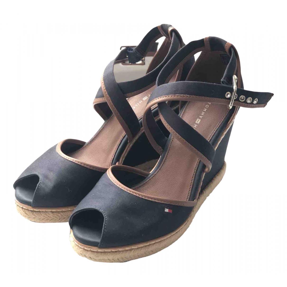 Tommy Hilfiger \N Blue Cloth Sandals for Women 38 EU