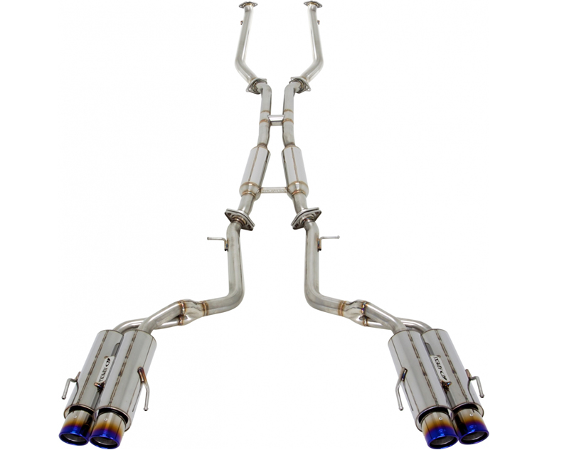 APEXi 164KT201 N1-X EVO Extreme Resonated Stainless Steel Catback Exhaust with Titanium Tips Lexus RC-F 5.0L V8 15-16