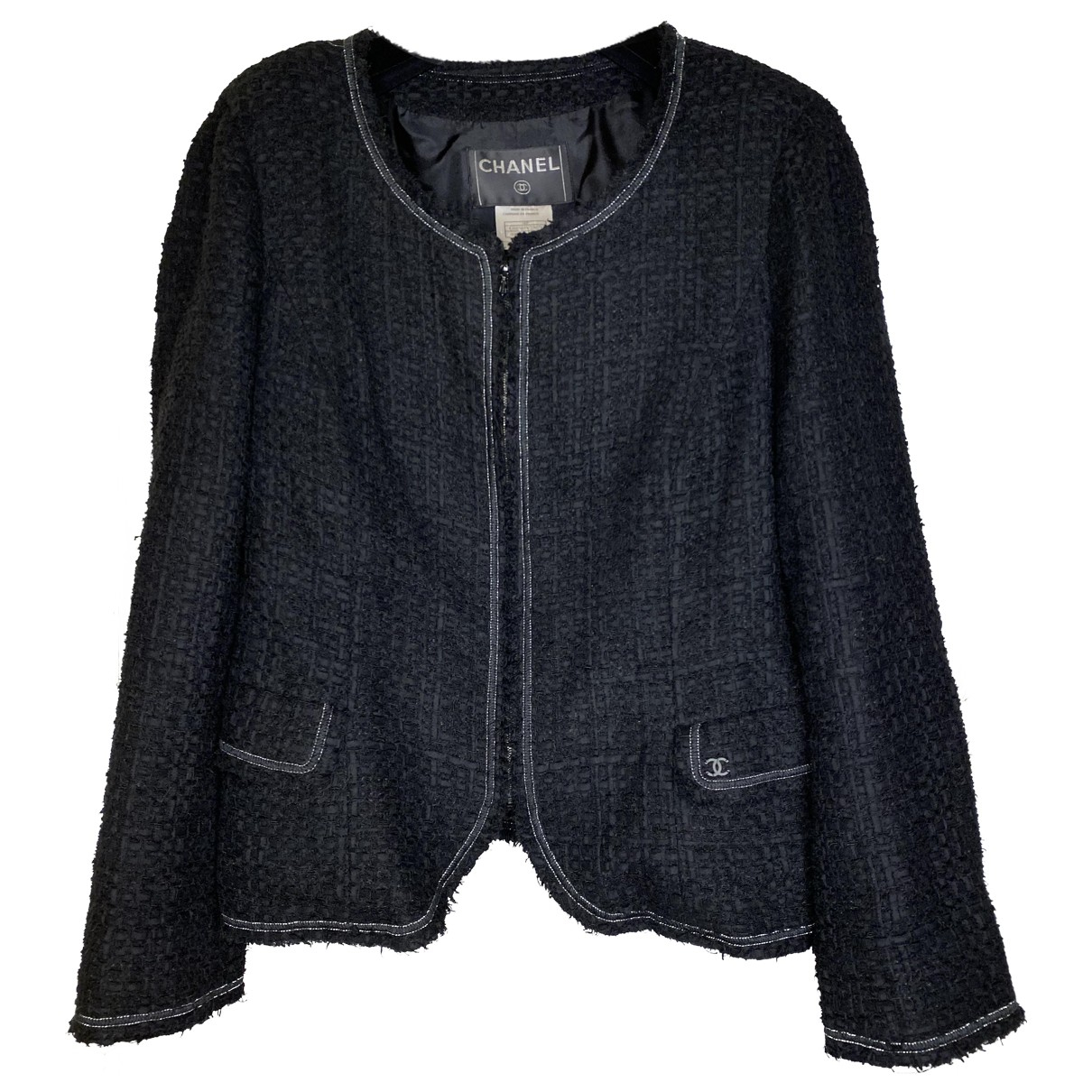 Chanel N Black Cotton jacket for Women 40 FR