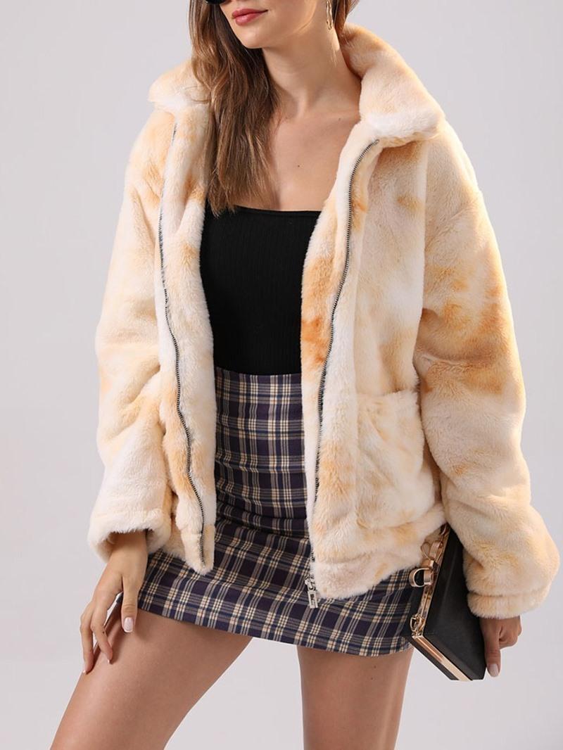 Ericdress Zipper Long Sleeve Slim Winter Regular Jacket