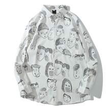 Camisas  para hombre Bolsillo Figuras Preppy
