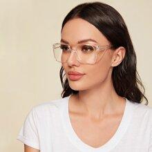 Klare flache Acryl-Schutzbrille
