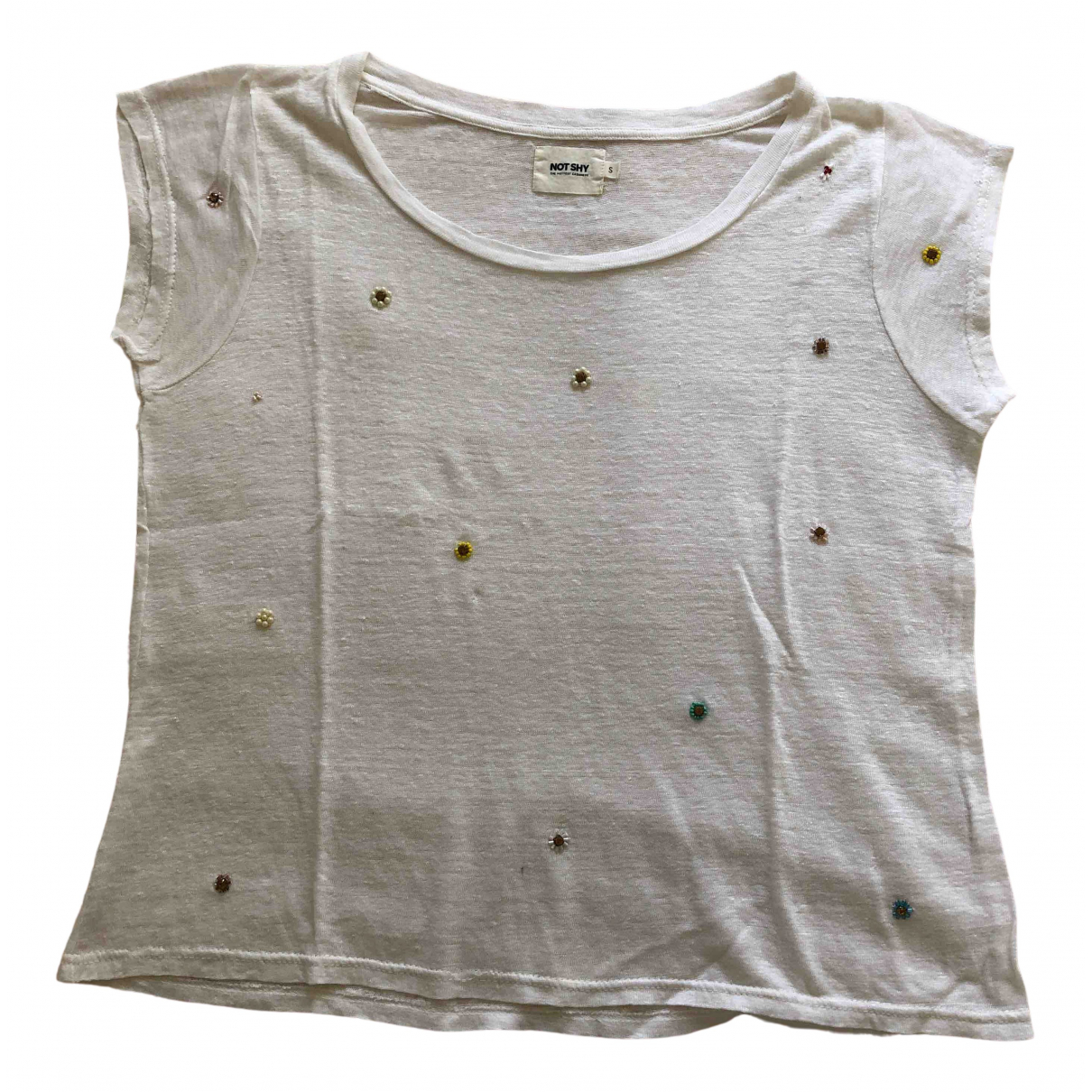 Not Shy \N White Cotton  top for Women S International