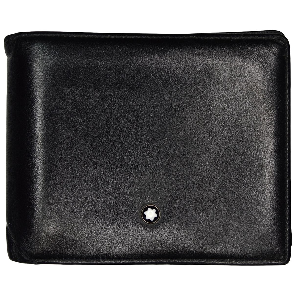 Montblanc \N Kleinlederwaren in  Schwarz Leder