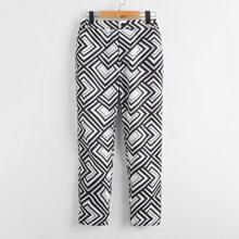Pantalones con estampado geometrico