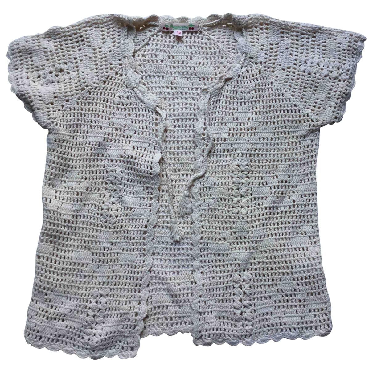 Bonpoint - Pull   pour enfant en coton - beige