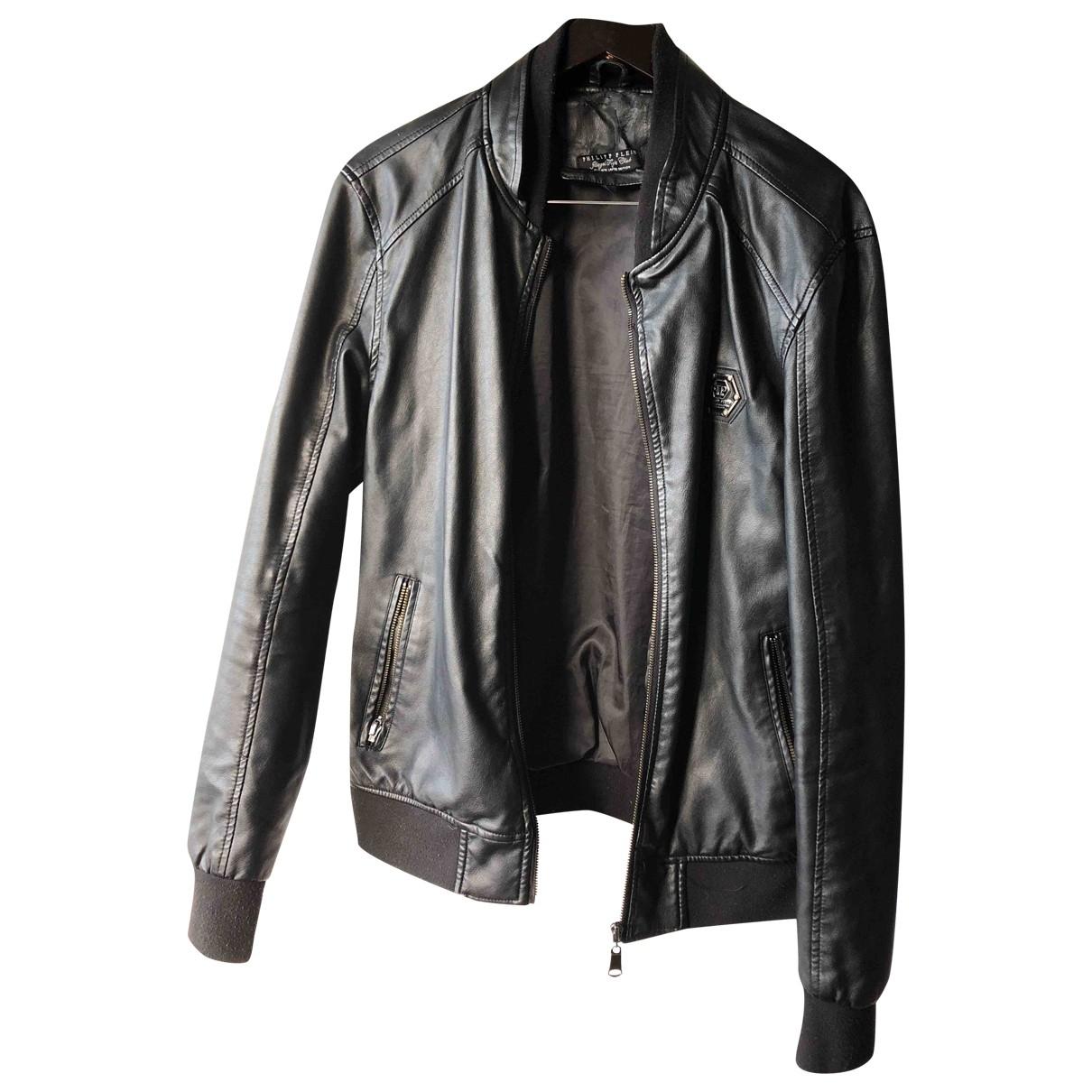 Philipp Plein \N Black Leather jacket  for Men L International