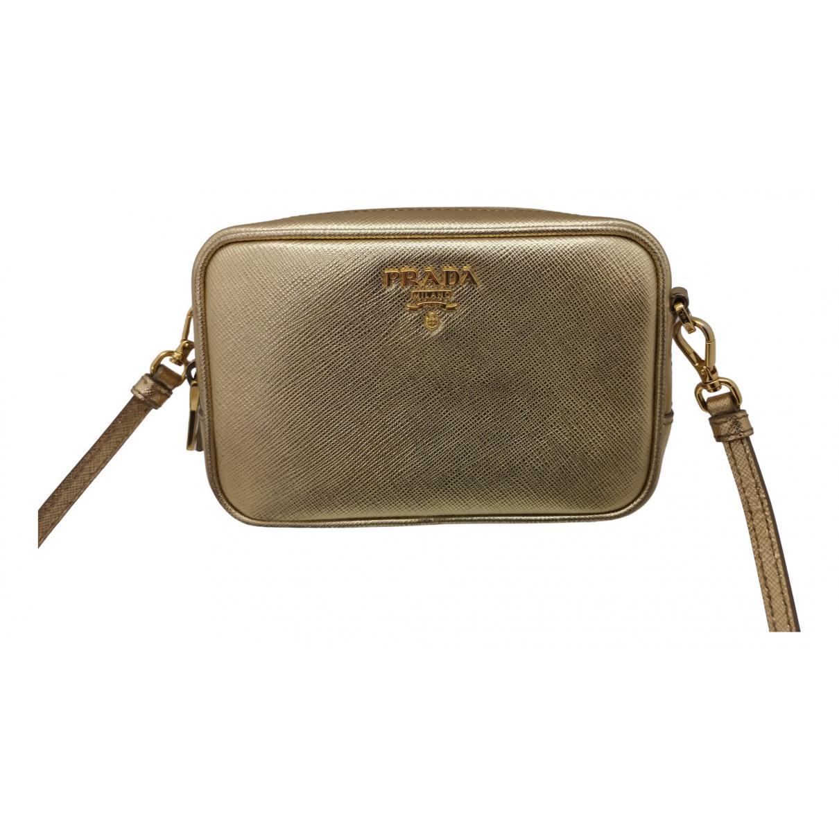 Prada Galleria Gold Leather handbag for Women N