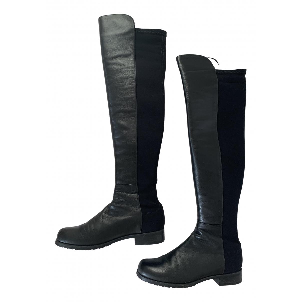 Stuart Weitzman \N Black Leather Boots for Women 4 UK