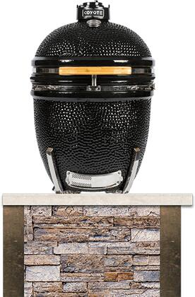 RTAC-K3-SB Built-In Coyote Asado Stand  in Stacked Stone Finish with Brown Terra Color