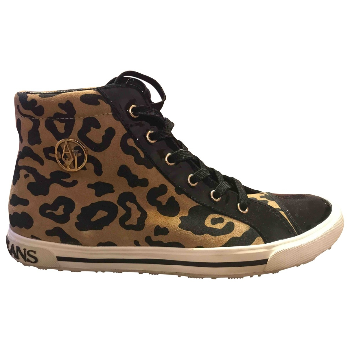Armani Jeans \N Sneakers in  Braun Veloursleder