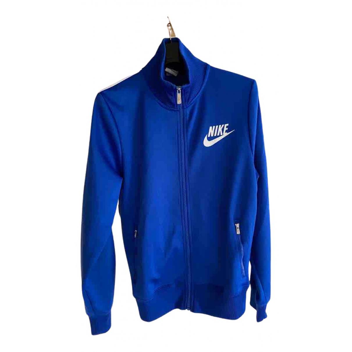 Nike \N Pullover.Westen.Sweatshirts  in  Blau Synthetik