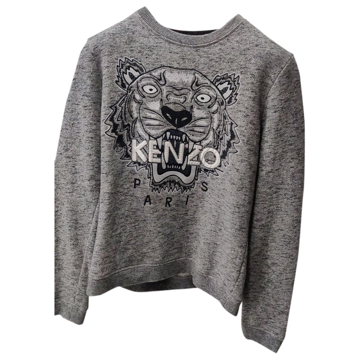 Kenzo - Pull   pour femme en coton - gris