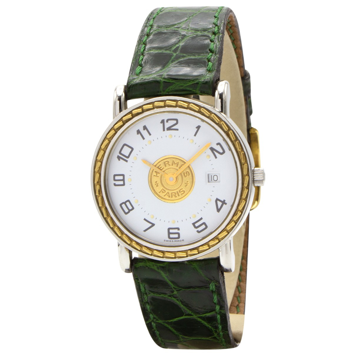 Hermès Sellier Gold Gold plated watch for Women N