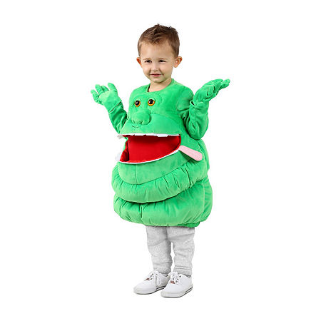 Feed Me Ghostbusters Slimer Child Costume Unisex Costume, X-small-small , Green