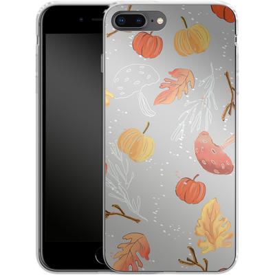 Apple iPhone 8 Plus Silikon Handyhuelle - Fall Woodland Grey von Mukta Lata Barua