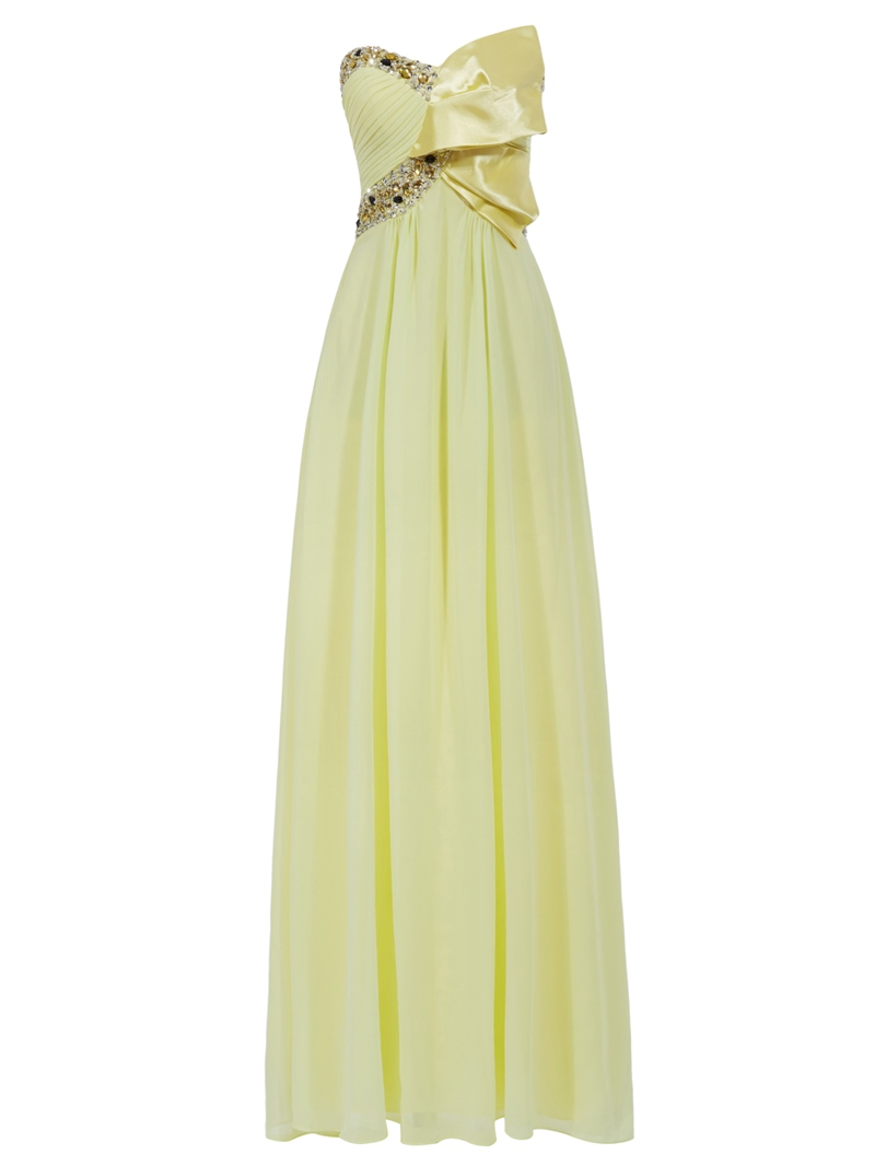 Ericdress Pretty Strapless Beading Long Prom Dress