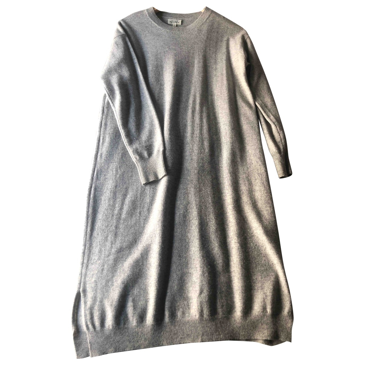 Hartford \N Kleid in  Grau Wolle