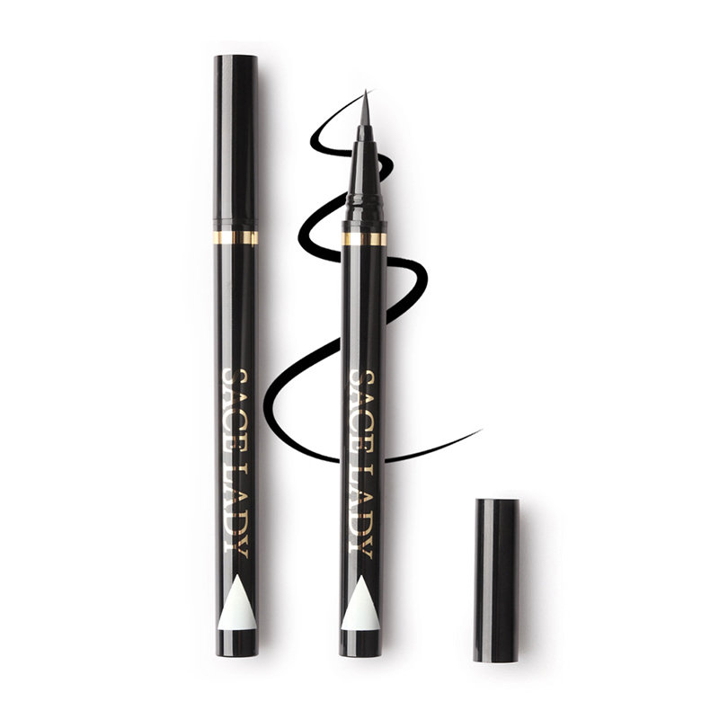 Black Liquid Eyeliner Waterproof Sweatproof Eye Liner Long-Lasting Eyeliner Eye Cosmetic