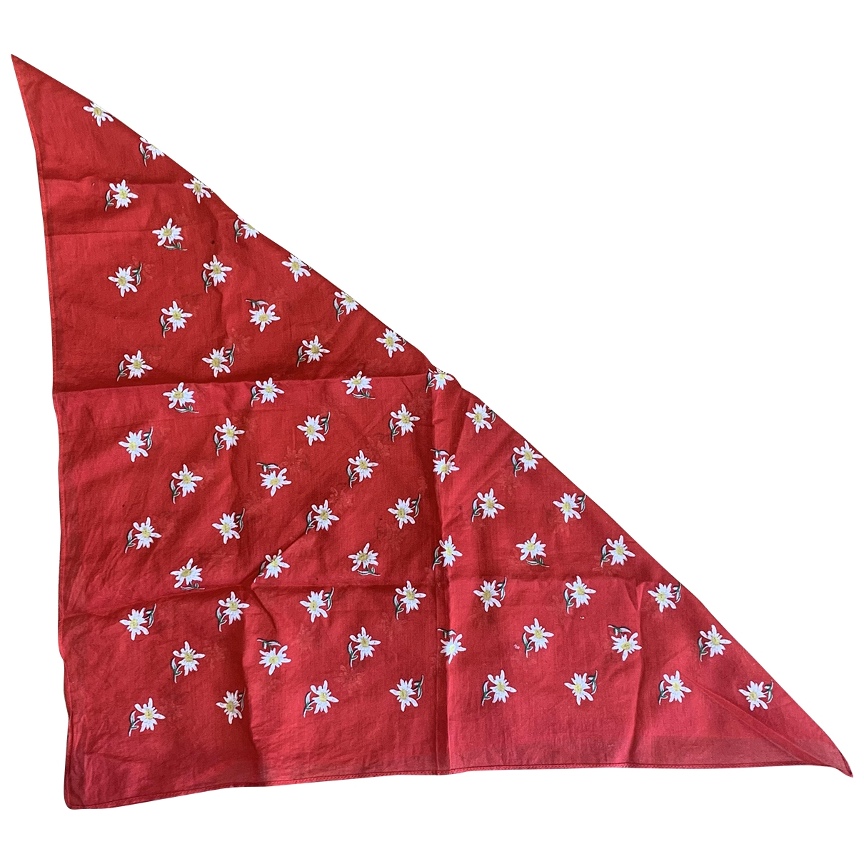 Non Signé / Unsigned \N Red Cotton scarf for Women \N