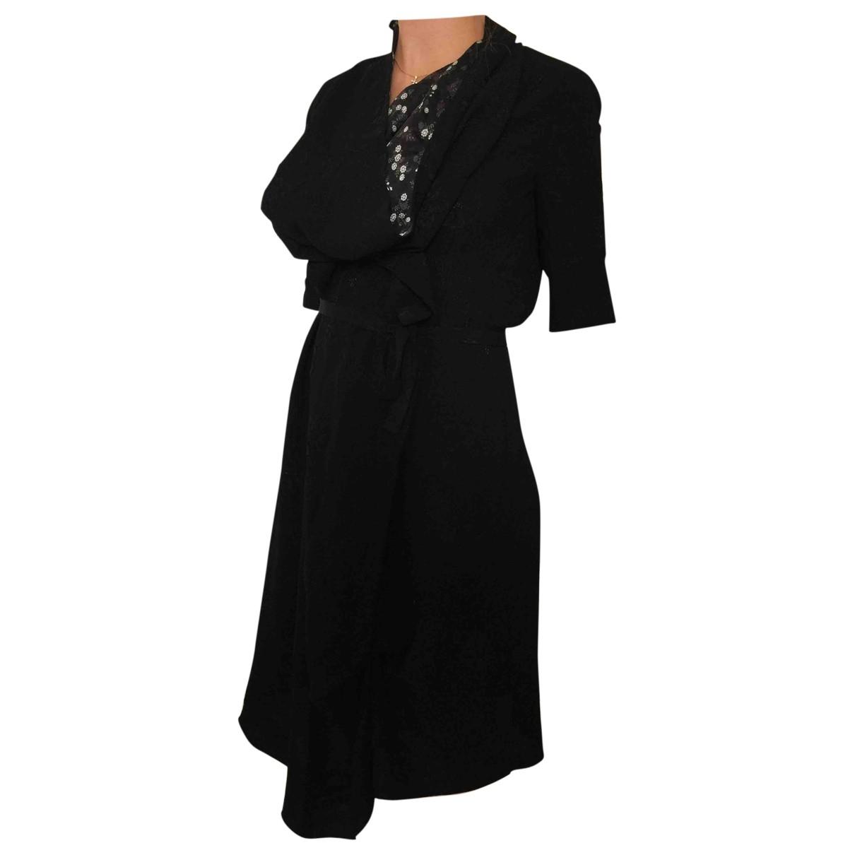 Kenzo \N Kleid in  Schwarz Viskose