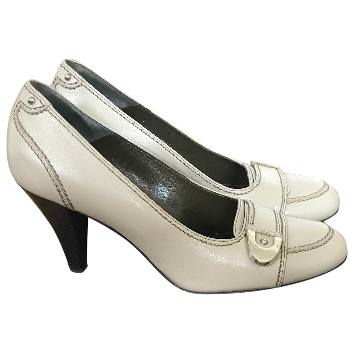 Bally \N Grey Leather Heels for Women 37 EU