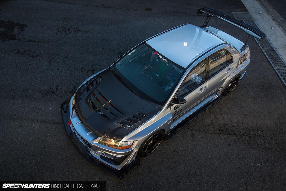 Varis VAMI-104 Carbon Cooling Bonnet | Side Fin Duct Mitsubishi EVO VII CT9A 01-02