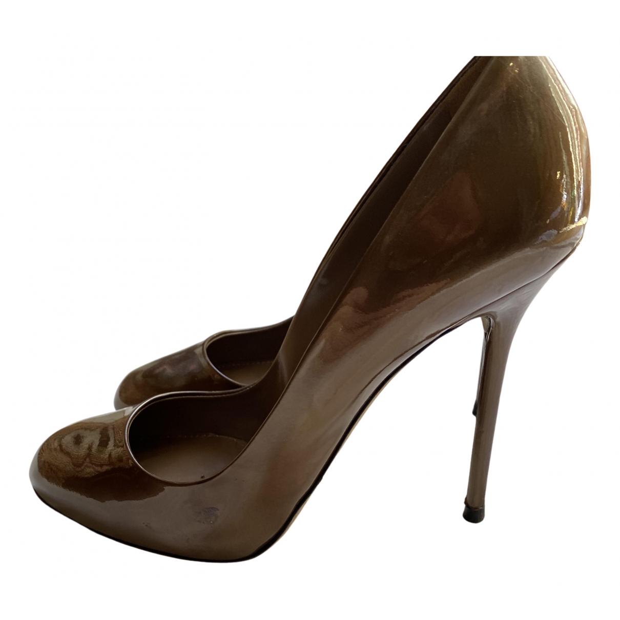Sergio Rossi - Escarpins   pour femme en cuir verni - metallise