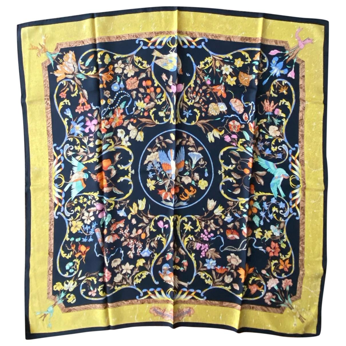 Hermes - Carre Carre 90 pour femme en soie - multicolore