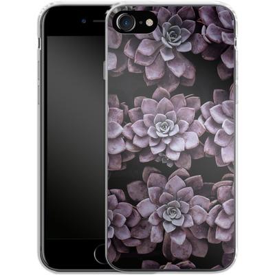 Apple iPhone 7 Silikon Handyhuelle - Purple Succulents von caseable Designs
