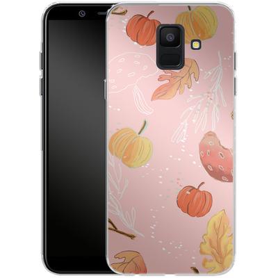 Samsung Galaxy A6 Silikon Handyhuelle - Foliage Pink Woodland von Mukta Lata Barua