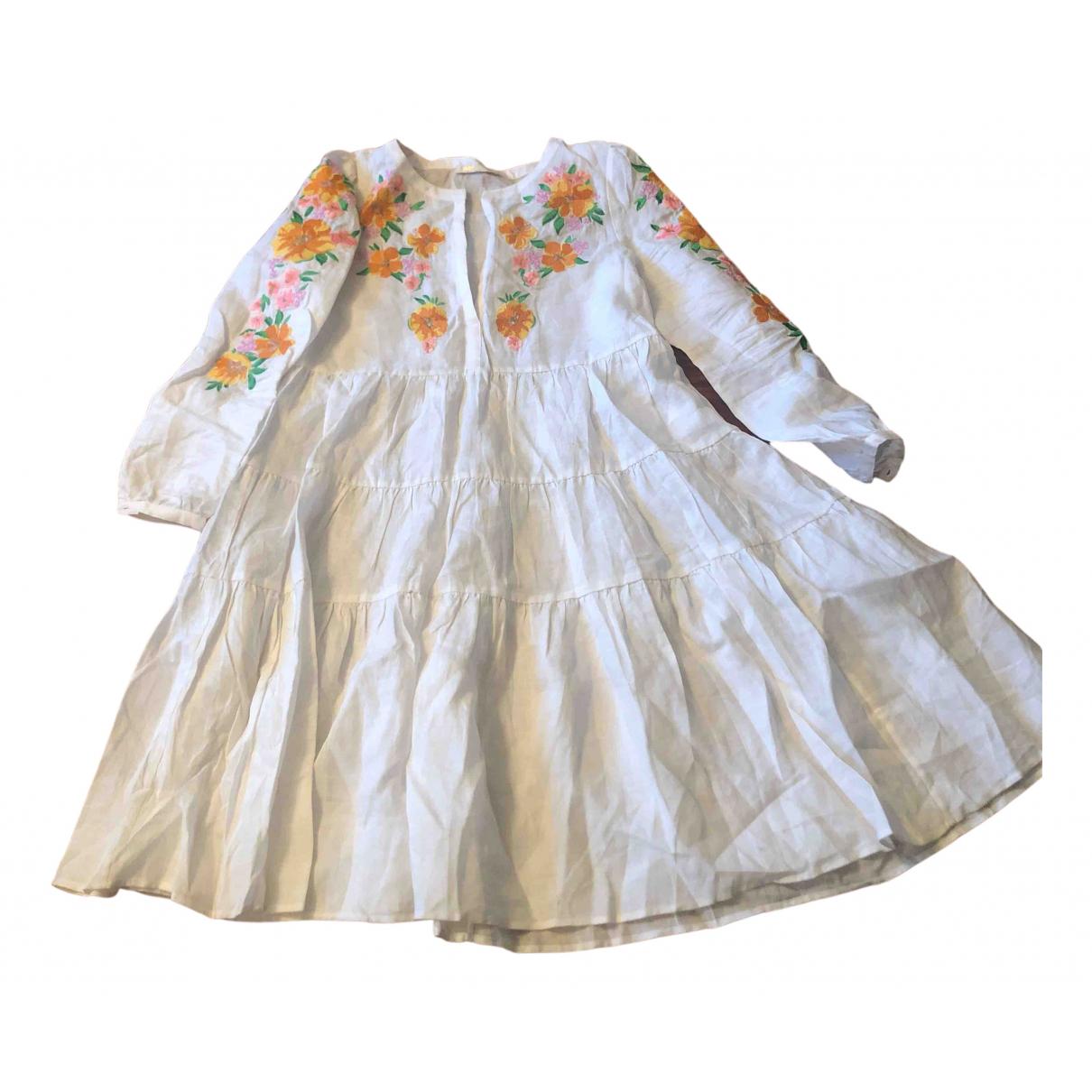 Maje - Robe   pour femme en lin - blanc