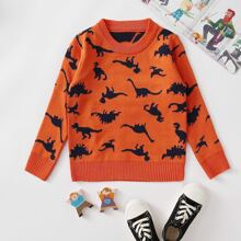 Pullover mit Dinosaurier Muster
