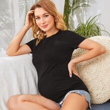 Maternidad camiseta ajustada fruncido