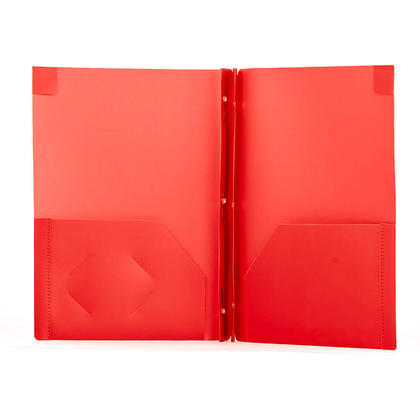 GEO DUO-TANG Poly Report Cover, 1 cover per pack - Red