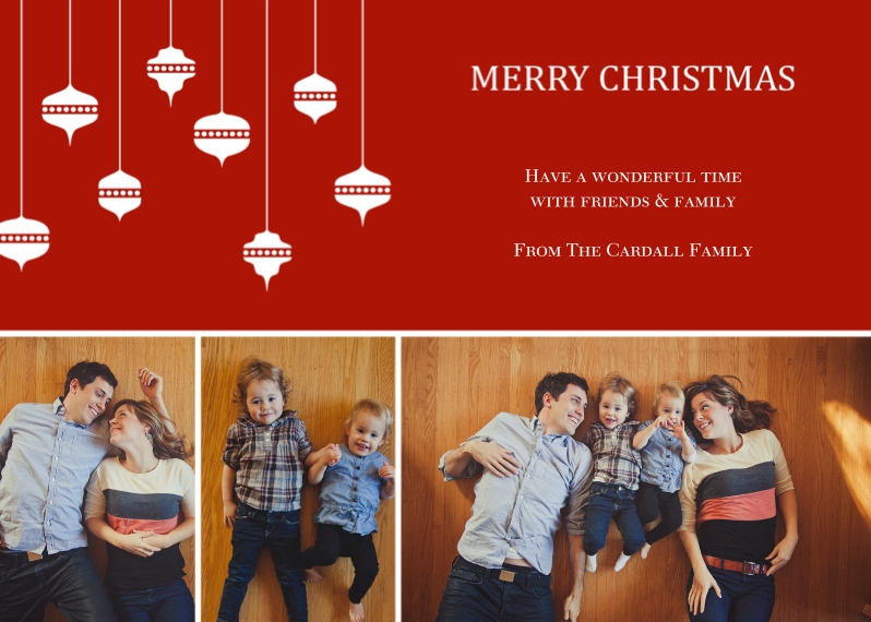 Christmas Photo Cards 5x7 Cards, Standard Cardstock 85lb, Card & Stationery -Abundant Ornaments