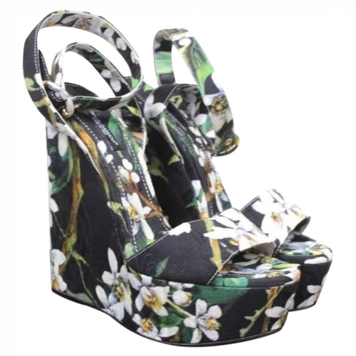 Dolce & Gabbana \N Multicolour Cloth Sandals for Women 39 EU