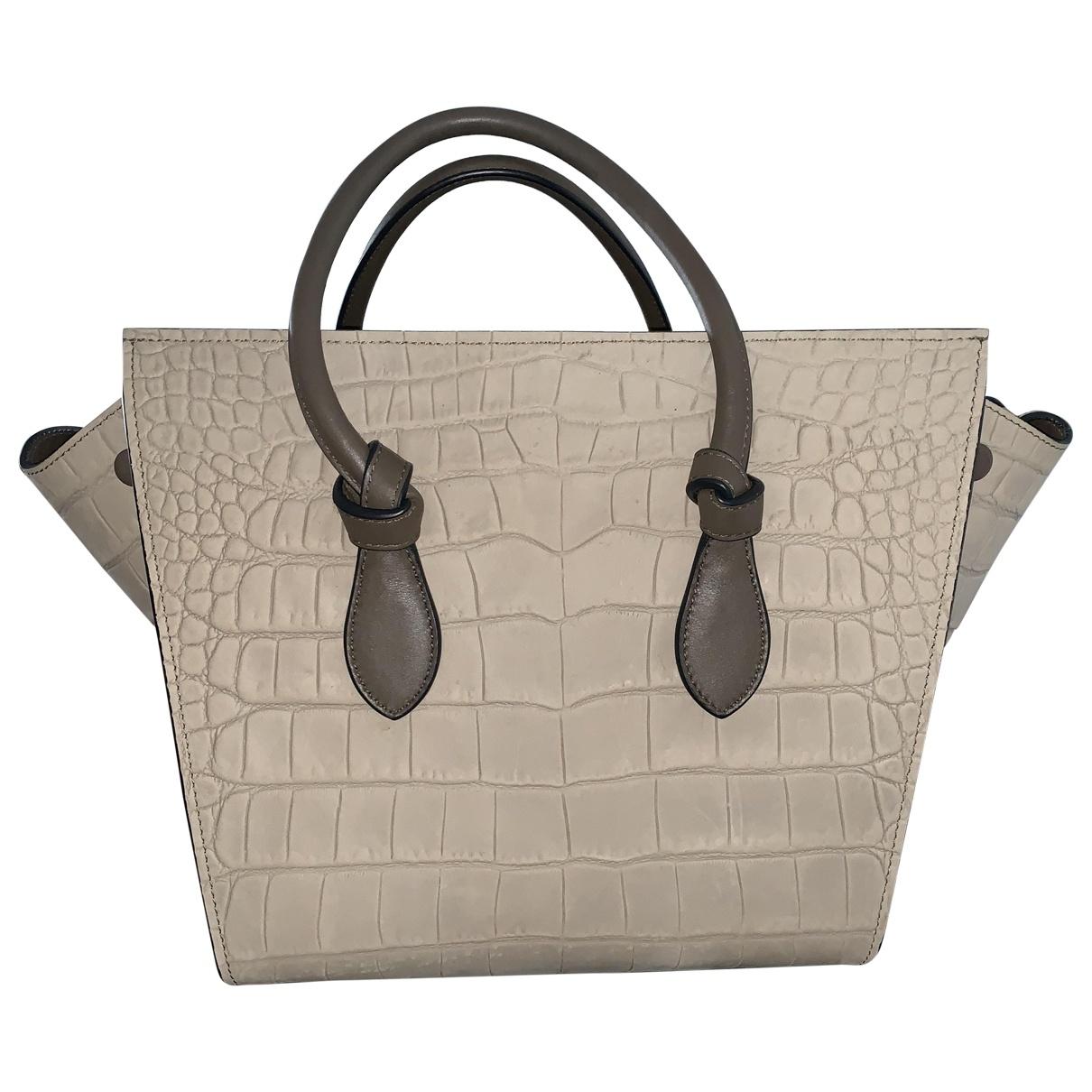 Celine Tie Grey Leather handbag for Women \N