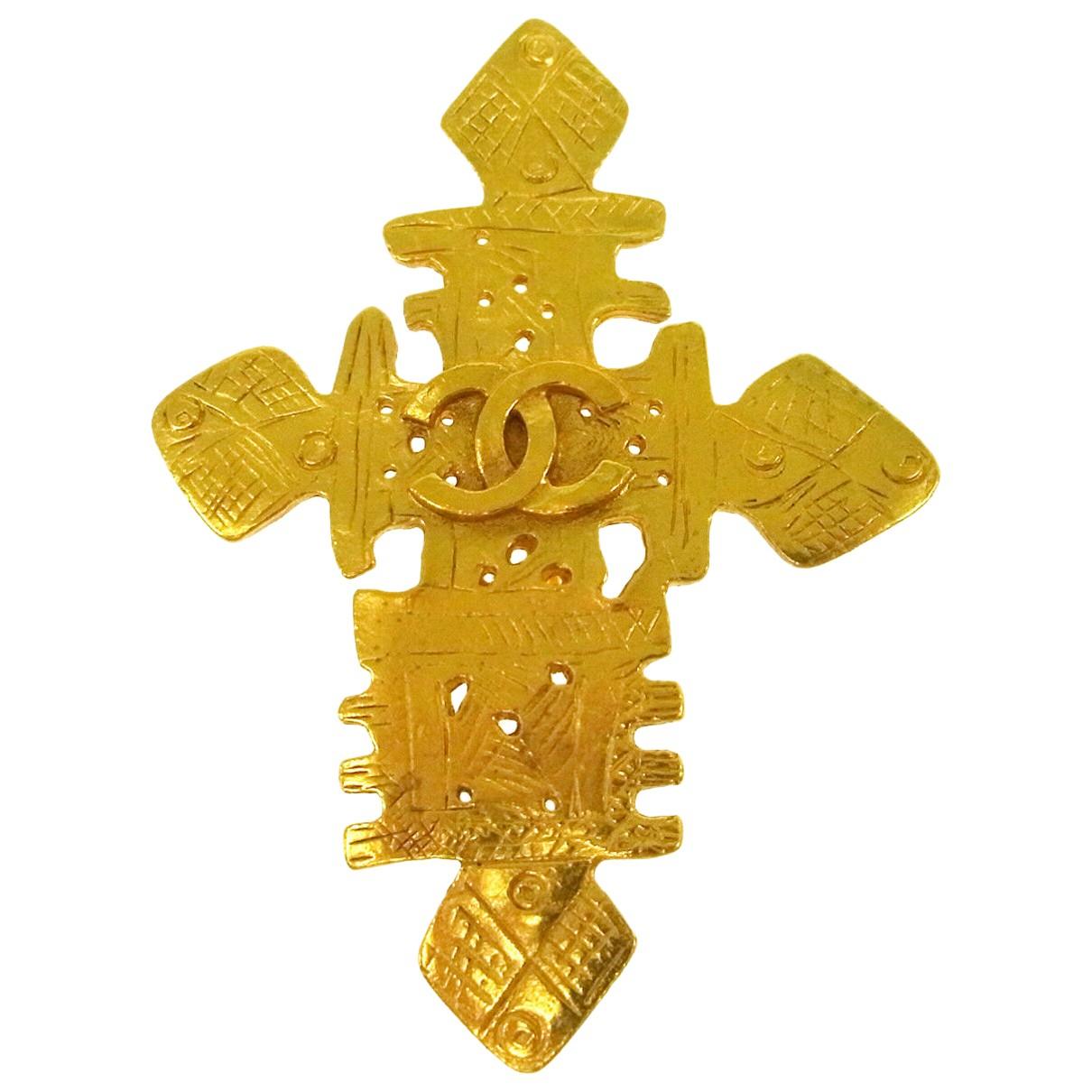 Broche Dorado Chanel