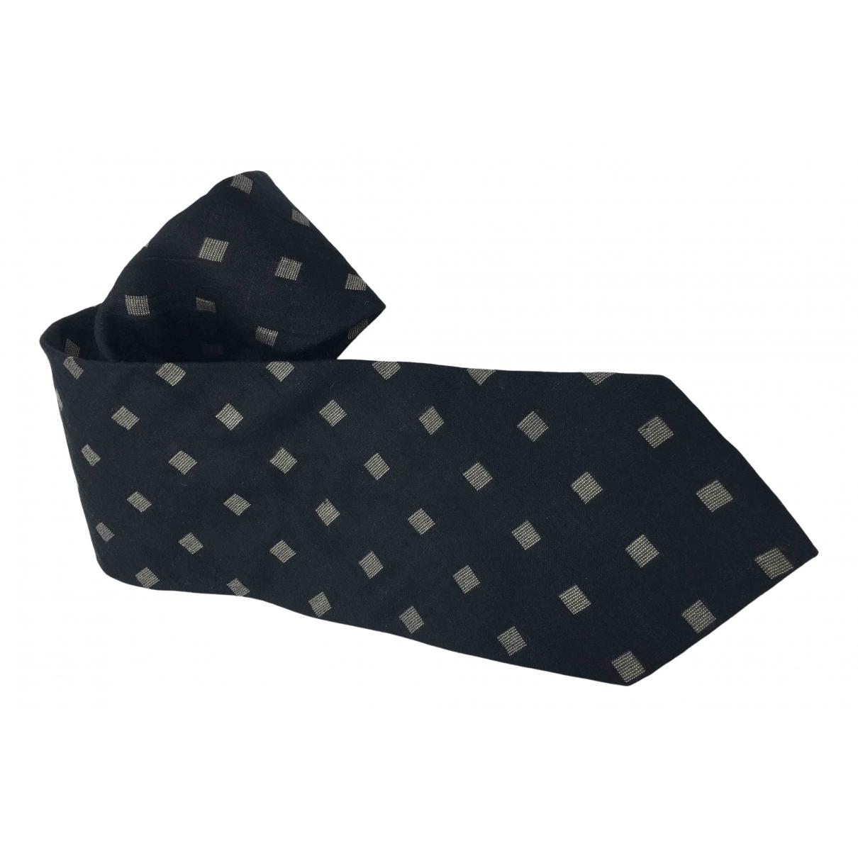 Emporio Armani \N Black Wool Ties for Men \N