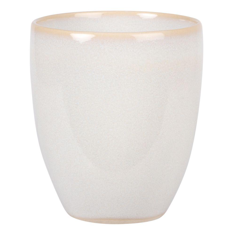 Tasse aus Steinzeug, weiss