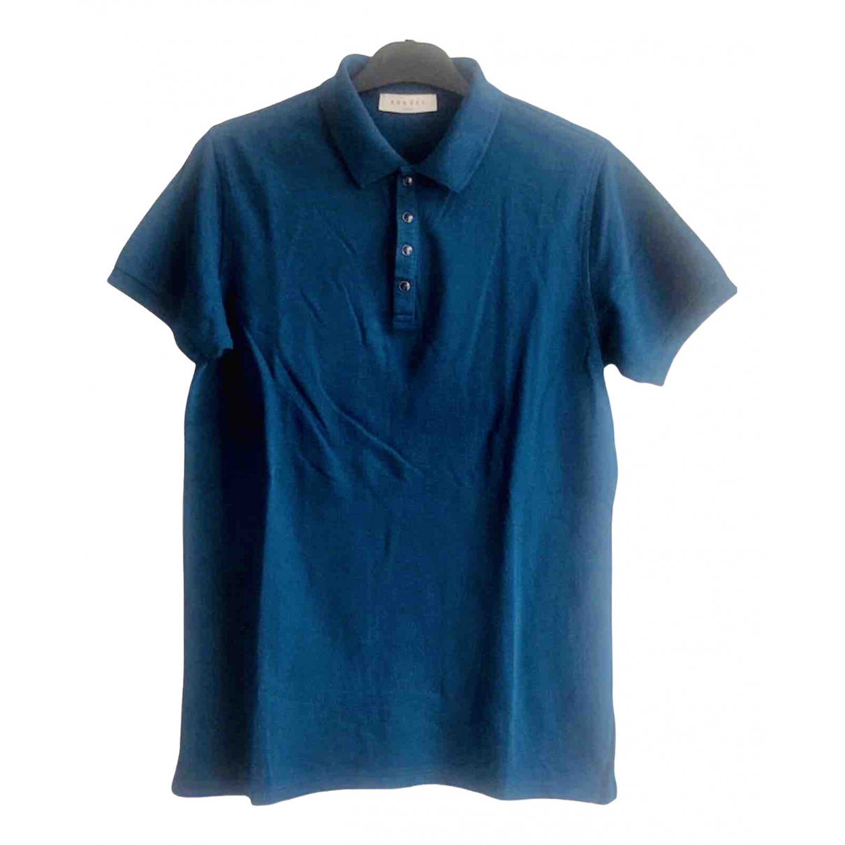 Sandro - Polos   pour homme en coton - bleu