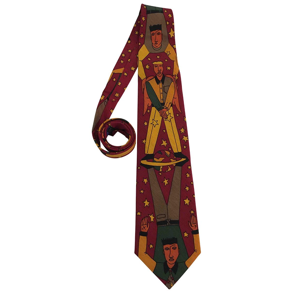 Jc De Castelbajac \N Krawatten in  Bordeauxrot Seide